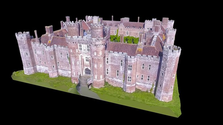 Herstmonceux Castle - East Sussex, England 3D Model