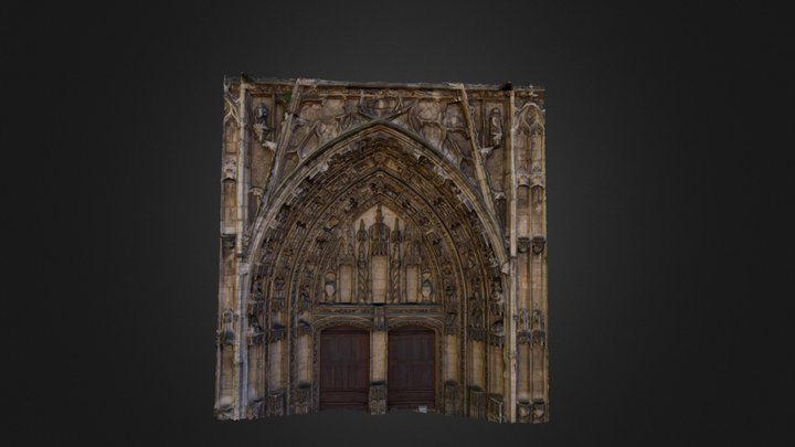 Eglise Saint Maurice - Portail Central 3D Model