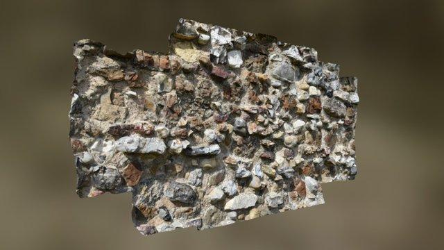 Leiston Abbey Flint Wall 3D Model