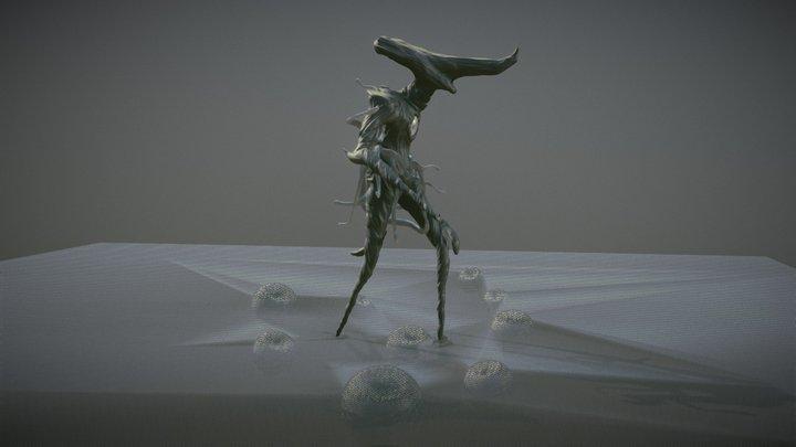 SculptJanuary18 Day 19: Lovecraftian Creature 3D Model
