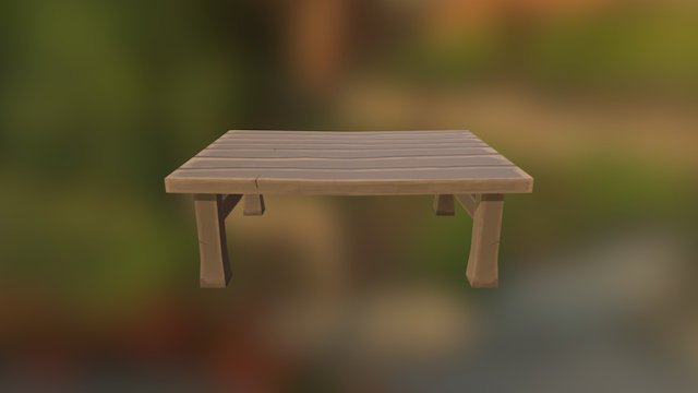 Table for game 3D Model