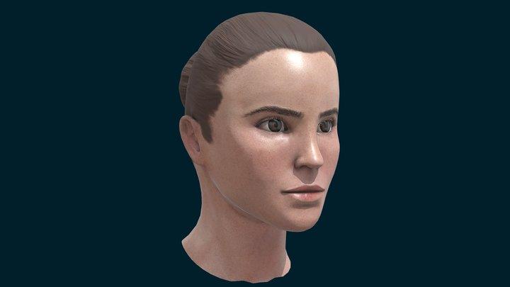 Emma Watson Bust 3D Model