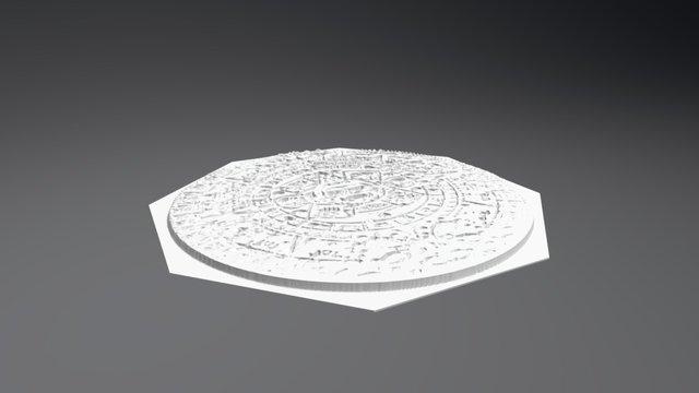 Mayan Stamp 3D Model