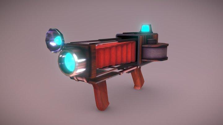 Vintage Camera Gun 3D Model