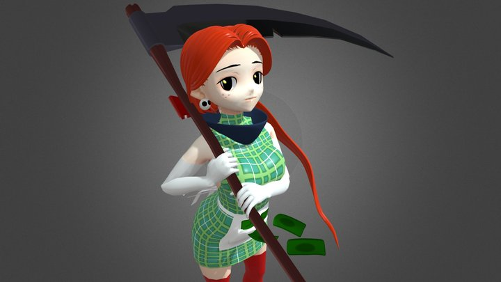 Katie (Anime Character) 3D Model