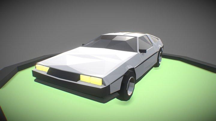 Low Poly Art: DeLorean 3D Model