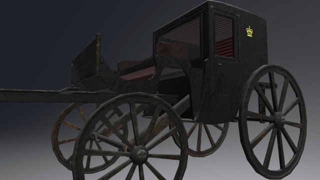 19th Century Carriage 3D Model