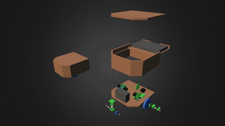 Mobile Base For Robot (Myrabot) 3D Model