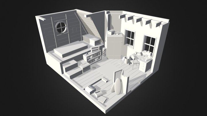 Teenage Bedroom 3D Model