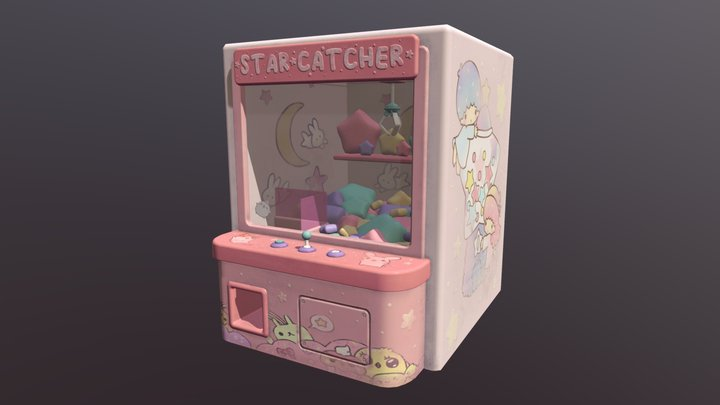 Claw machine (with textures) 3D Model