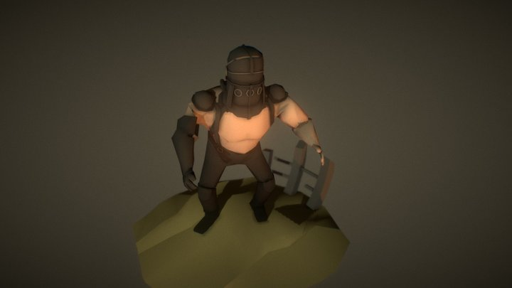 Low Poly (master)Blaster 3D Model