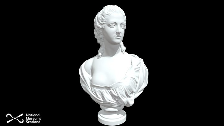 Madame Victoire Marble Bust 3D Model