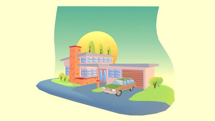 That 70's House 3D Model