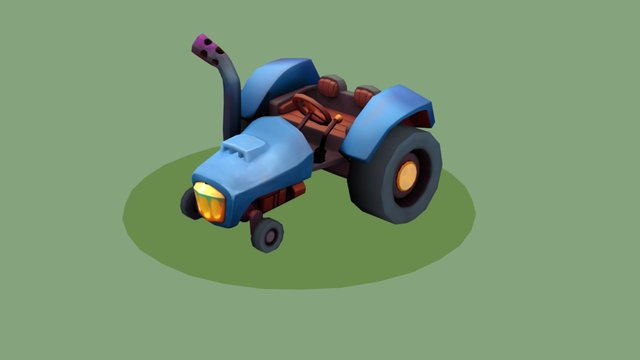 A Tractor for Two 3D Model