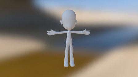 Personagem Básico 3D Model