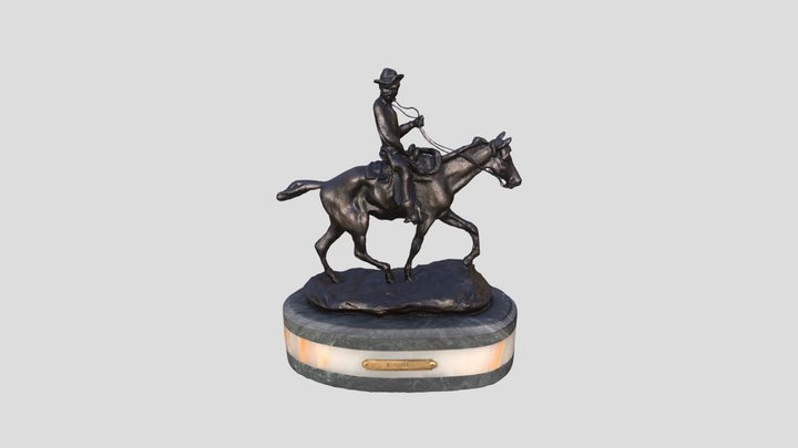Will Rogers on Horseback by Charlie Russell 3D Model