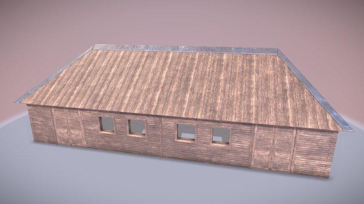 Medieval stables 3D Model