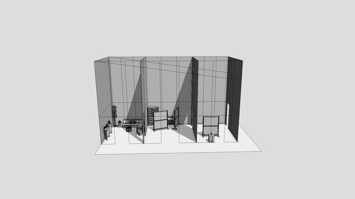 Audio Booth Part 2 3D Model