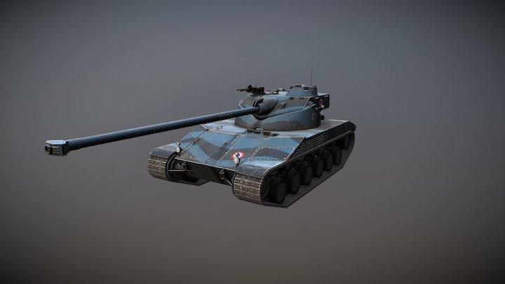 ВAT.-СHÂTILLON 25 T Musketeer 3D Model