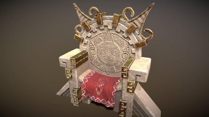Aztec Throne 3D Model
