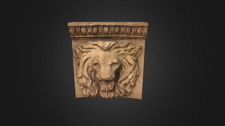 Purdue Lion Fountain 3D Model