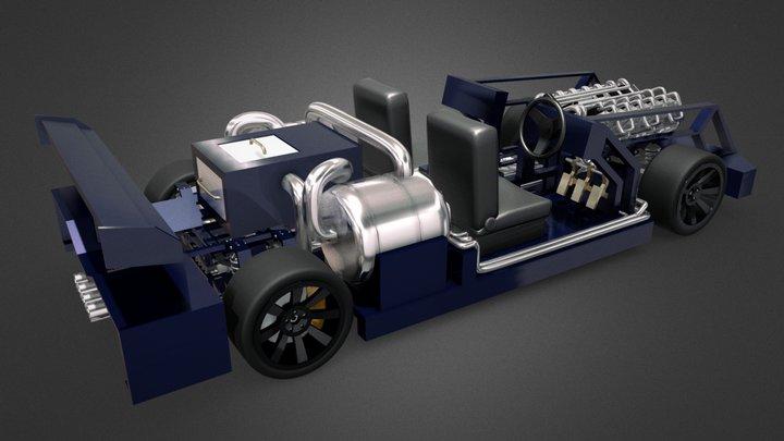 Steam_Racing_Car_by_Hector_Celis 3D Model