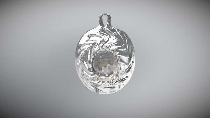 "Brooch ""Helix"" 3D Model"