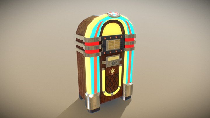 Lowpoly Jukebox 3D Model