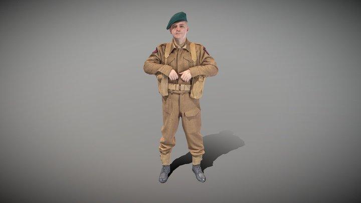 British commando from World War 2 44 3D Model