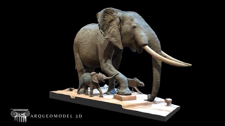 Elefantes - PARIS 19081 3D Model