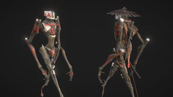 DromOS Rebelion Robot 3D Model