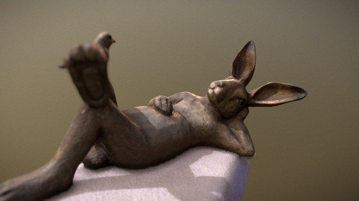 Resting Rabbit 3D Model