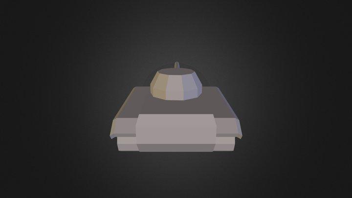 Low Poly Tank 3D Model