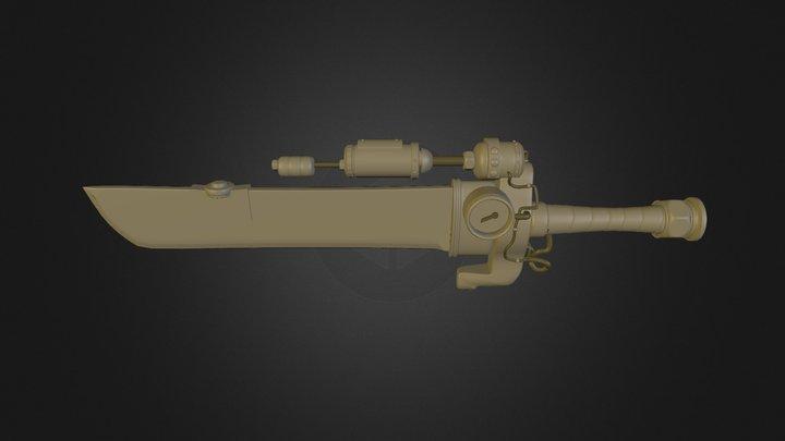Steam Punk Sword 3D Model
