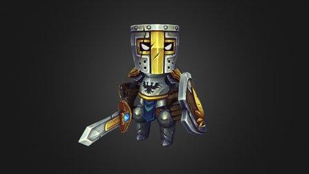 Tin Knight 02 Posed unlit 3D Model
