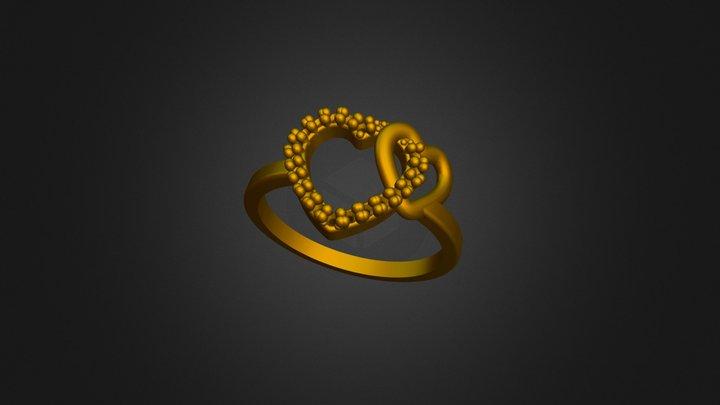 Ring Heart Zircon 3D Model
