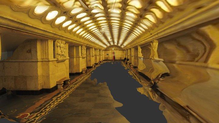 1944 Moscow metro station Elektrozavodskaya 3D Model