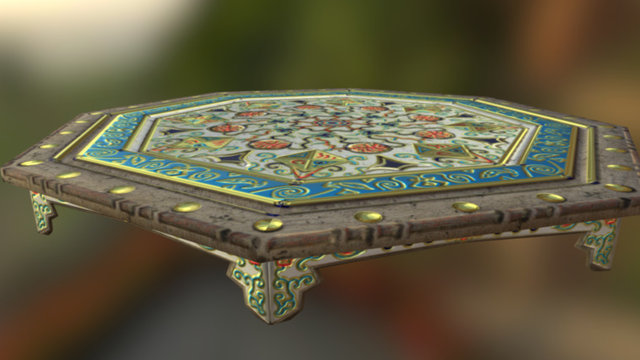 Middle Aged Ottoman table 3D Model