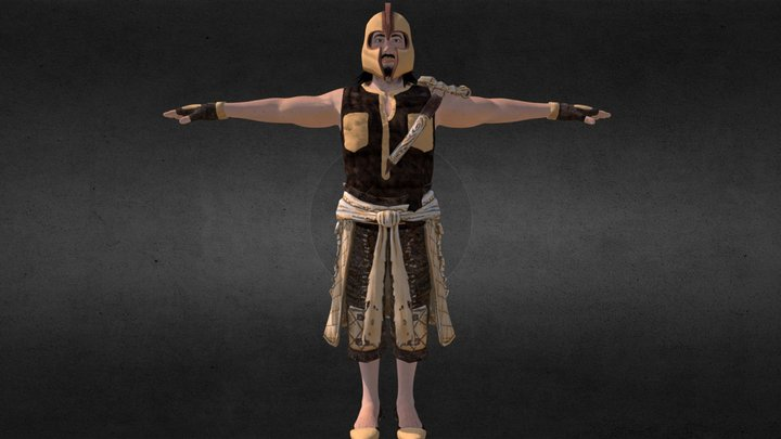 Ancient indian warrior 3D Model