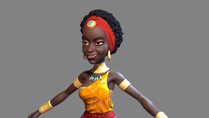The African Queen 3D Model
