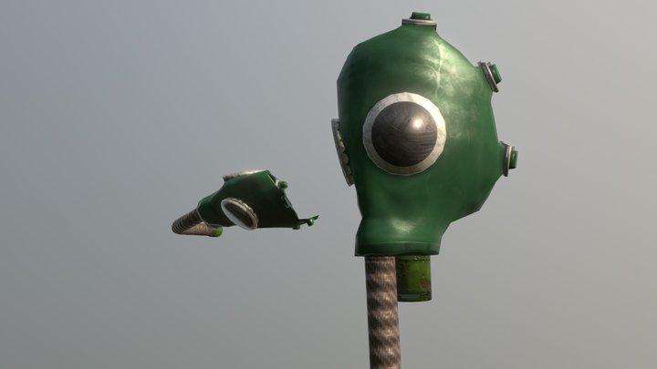 USSR Gas mask -GP4u 3D Model