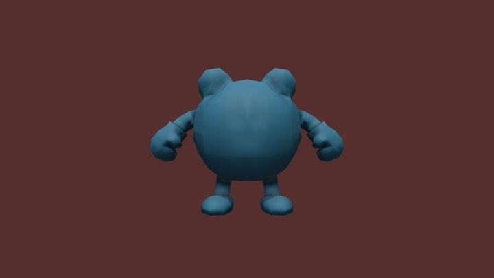 Poliwhirl Marmoset 3D Model