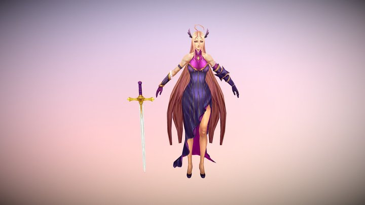 hand-painted female 3D Model