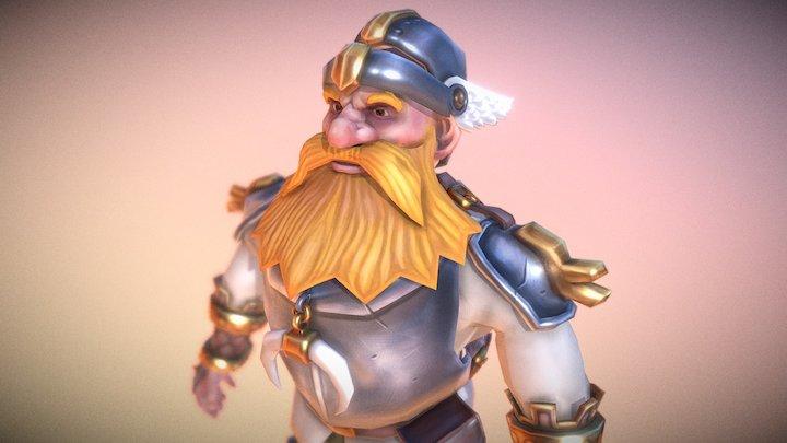 Dwarf Alebarda 3D Model