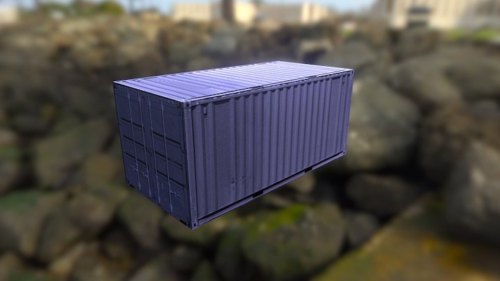 blue container 3D Model