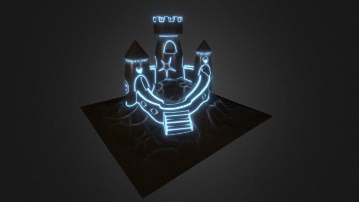 Rip's Glowing Sand Castle 3D Model
