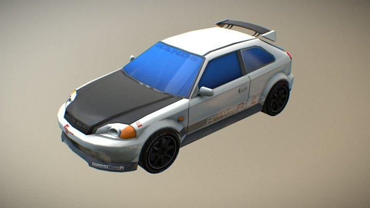 Honda Civic Sixth Gen [custom] 3D Model