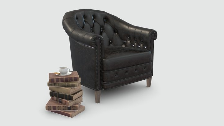 Curations Limited Chambery Armchair 3D Model