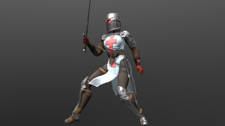 Female Crusade Warrior 3D Model