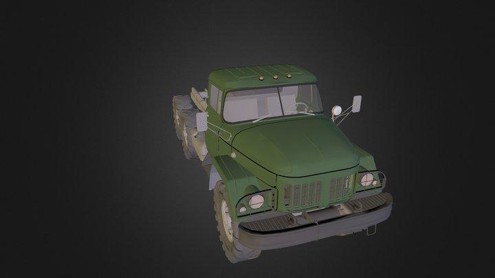 Truck ZIL 131 3D Model